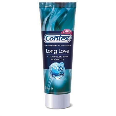 CONTEX Гель-смазка интимный Plus Long Love с охлаждающим эффектом 30мл немецкий импорт эрос взрослая женщина человеческого тела смазка водорастворимым смазочное смазочный жидкость весело принадлежности 30мл