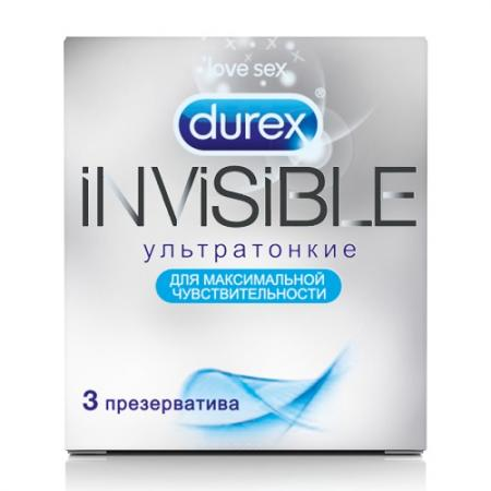 DUREX Презервативы №3 Invisible ультратонкие