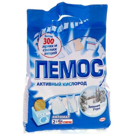 ПЕМОС Порошок стиральный Автомат Зимнее утро 2кг гель для стирки пемос универсальный 2 2 л