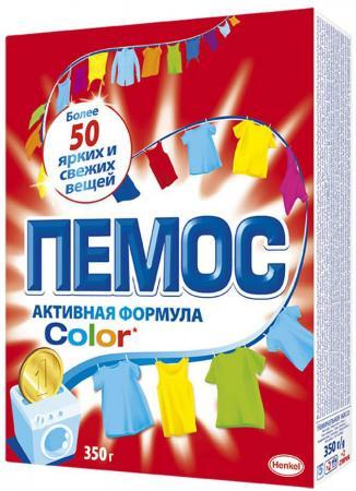 Стиральный порошок ПЕМОС Color 350г пемос порошок стиральный колор пемос 3 5 кг