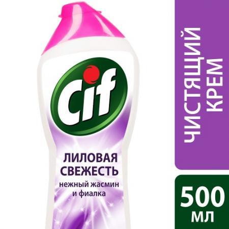 CIF Чистящий крем Лиловая свежесть 500мл cif чистящий крем active fresh универсальный 500 мл