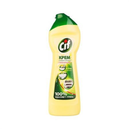 CIF Чистящий крем Актив Лимон 250мл бытовая химия cif чистящий крем лиловая свежесть 500 мл