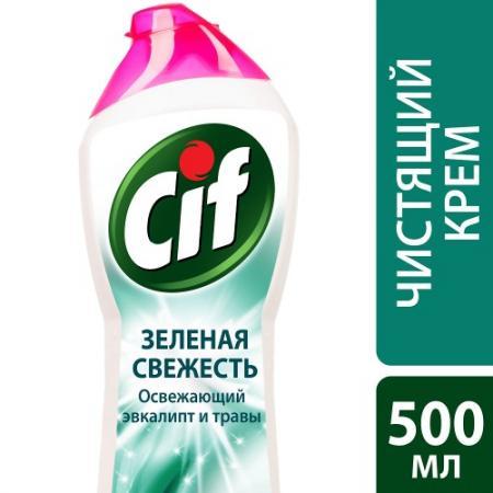 CIF Чистящий крем Зелена�� свежесть 500мл бытовая химия cif чистящий крем лиловая свежесть 500 мл