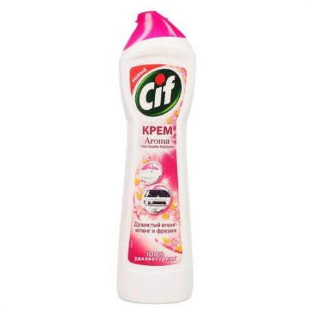 CIF Чистящий крем Розовая свежесть 500мл бытовая химия cif чистящий крем лиловая свежесть 500 мл