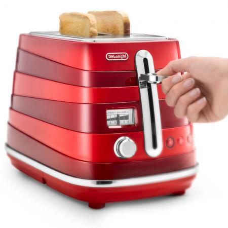 Тостер DeLonghi CTA 2103.R красный тостер delonghi ctoe 2103 красный