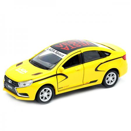Автомобиль Welly LADA Vesta Спорт 1:34-39 желтый 43727RY welly lada 2108 1 34 39
