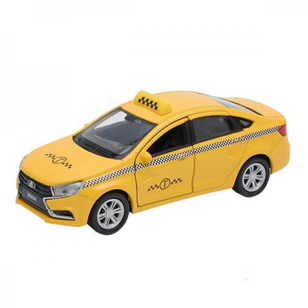 Автомобиль Welly LADA Vesta такси 1:34-39 желтый 43727TI автомобиль welly lada vesta 1 34 39 красный 43727