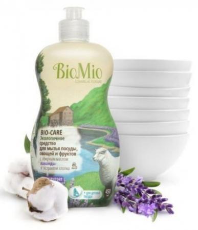 Средство для мытья посуды BioMio Bio-Care 450мл ЭЛ-241 бытовая химия bio mio средство для мытья посуды овощей и фруктов biomio bio care концентрат 450 мл