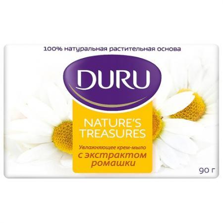 DURU NATURES TREASURES Мыло Ромашка 90г набор duru natures treasures гель д д оливка 250мл гель д д облепиха 250мл мочалка