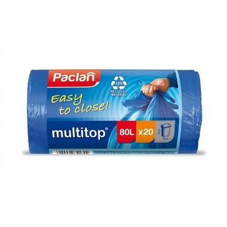 PACLAN Мешки для мусора синие CLASSIC 80л 20шт мешки для мусора paclan big