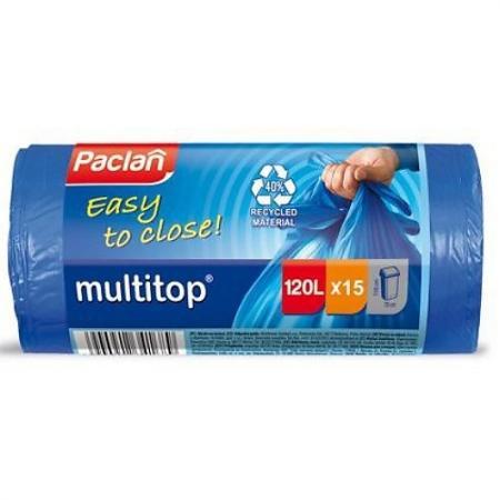 PACLAN Мешки для мусора MULTI-TOP 60л 20шт мешки для мусора stayer comfort с завязками голубые 60л 20шт 39155 60