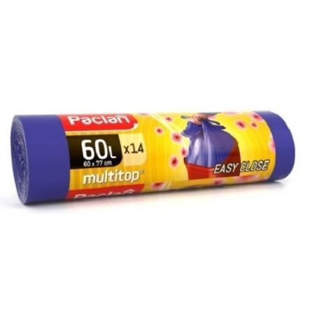 Paclan Мешки для мусора с ушками Multitop Aroma 60л 14 шт цена