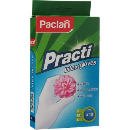 PACLAN Перчатки латексные размер M 10шт перчатки латексные paclan contact 100 шт размер l