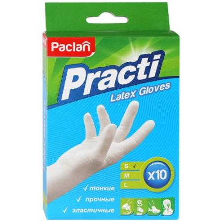 PACLAN Перчатки латексные размер S 10шт перчатки stayer master латексные s 100шт 11205 s