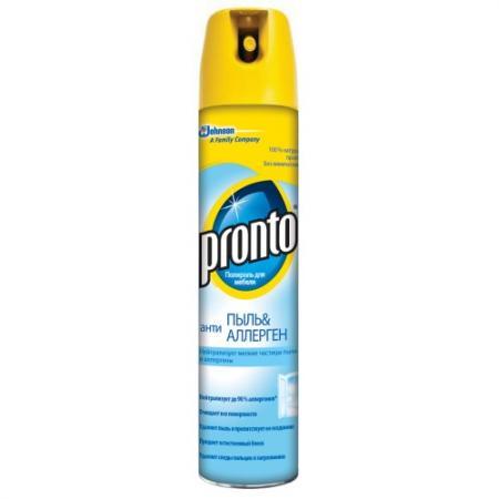 РRONTO чистящее и моющее средство по уходу за мебелью Полироль-антипыль Антиаллерген 250мл полироль для мебели pronto антипыль и антиаллерген 250 мл