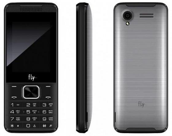 """Мобильный телефон Fly FF245 серый черный 2.4"""" 32 Мб цена и фото"""