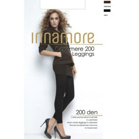 Innamore Леггинсы Cashmere Leggings 200 Nero, 2 innamore трусы innamore icd33181 basic lace ванильный