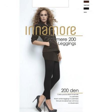 Innamore Леггинсы Cashmere Leggings 200 Nero, 4 innamore трусы innamore icd33181 basic lace ванильный