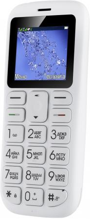 "Мобильный телефон Fly Ezzy 7+ белый 1.77"" 32 Мб телефон fly fs451 nimbus 1 белый"