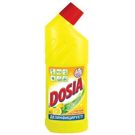 DOSIA Гель Чистящий для сантехники с дезинфицирующим и отбеливающим эффектом Лимон 750мл гель чистящий comet лимон 500 мл