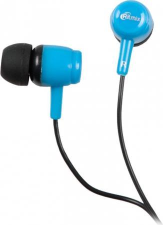 Наушники Ritmix RH-020 черный синий наушники ritmix rh 011 черный