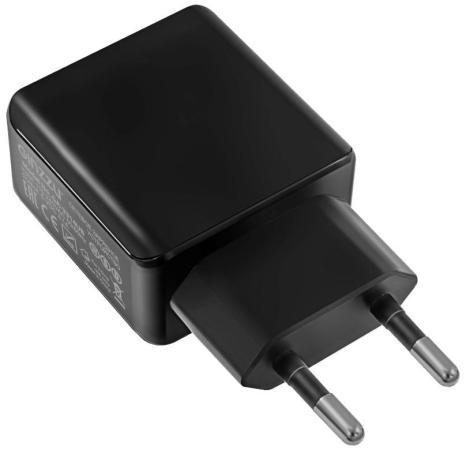 Сетевое зарядное устройство GINZZU GA-3314UB 3.1А USB черный сетевое зарядное устройство ginzzu ga 3314ub 2xusb usb type c 3 1a черный