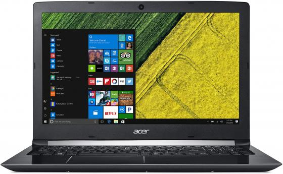 Ноутбук Acer Aspire 5 A515-51G-539Q 15.6 1366x768 Intel Core i5-7200U 500 Gb 4Gb nVidia GeForce MX150 2048 Мб черный Windows 10 NX.GPCER.003 ноутбук acer predator triton 700 pt715 51 78su 15 6 1920x1080 intel core i7 7700hq nh q2ker 003
