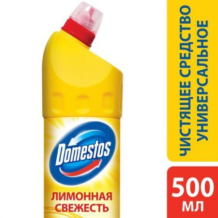 DOMESTOS Средство универсальное чистящее Лимонная свежесть 500мл бытовая химия domestos чистящее средство фруктовая свежесть 1 л