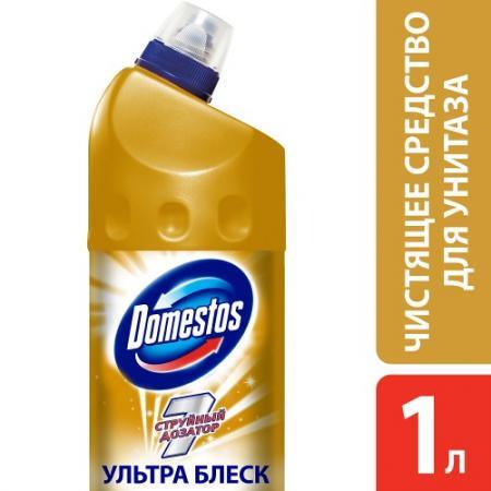 DOMESTOS Средство чистящее для унитаза Ультра блеск 1л средство чистящее domestos свежесть лаванды универс 24часа 1л