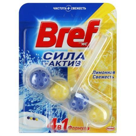 BREF Сила Актив Блок туалетный Лимонная свежесть 50г bref duo aktiv океан