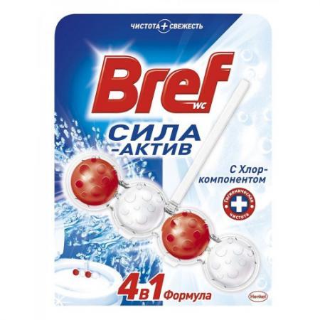 BREF Чистящее средство для унитаза Сила Актив Хлор 50г bref duo aktiv океан