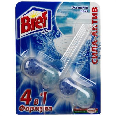 BREF Сила Актив Блок твёрдый туалетный Океанский бриз 50г bref duo aktiv океан