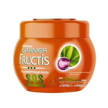 GARNIER FRUCTIS SOS Маска Восстановление 300мл garnier fructis маска для непослушных волос макадамия 390 мл