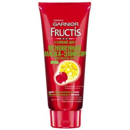GARNIER FRUCTIS Маска-эликсир мгновенная тающая Стойкий цвет для окрашенных или мелированных волос 200мл