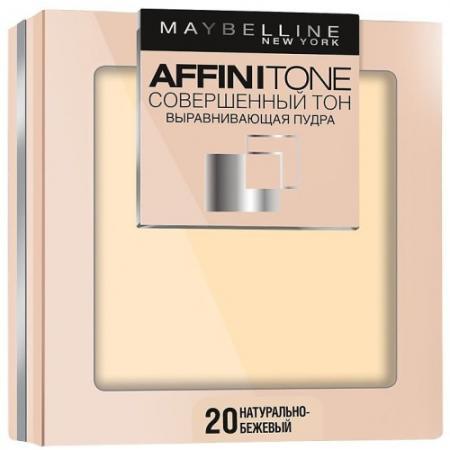 MAYBELLINE Компактная пудра выравнивающая Affinitone 20 натурально-бежевый