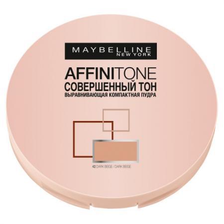 MAYBELLINE Компактная пудра выравнивающая Affinitone 42 темно-бежевый
