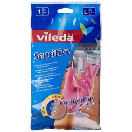 ВИЛЕДА Перчатки для деликатных работ L перчатки vileda для чувствительной кожи l