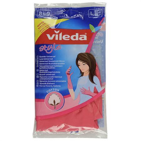 ВИЛЕДА Перчатки Стайл L перчатки vileda для чувствительной кожи l