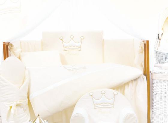 Сменный комплект постельного белья 3 предмета 125х65см Lepre Royal Dream (цвет 66 белый)