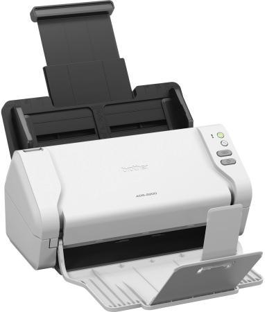 Сканер Brother ADS-2200 протяжный CIS A4 600x600dpi USB белый