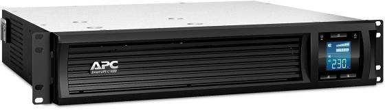 ИБП APC Smart-UPS C SMC1000I-2URS 600Вт 1000ВА черный ибп apc smart 1000va smc1000i 2u