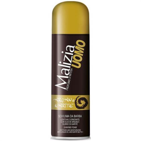 MALIZIA UOMO Пена для бритья Argan and Karite 300 мл malizia дезодорант роликовый musk uomo malizia 50 мл