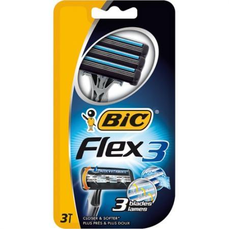 Бритвенный станок BIC Flex 3 3 бритвенный станок bic twin lady 5