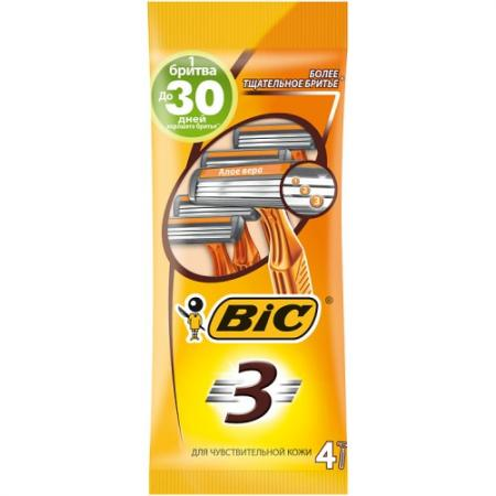 Бритвенный станок BIC Sensitive 4 бритвенный станок bic sensitive 5