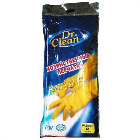 Др.Клин Хозяйственные резиновые перчатки жёлтые Размер M
