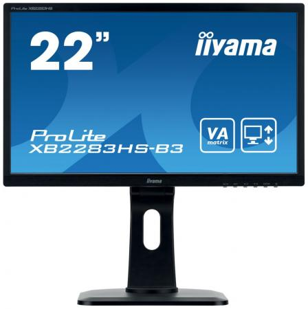 Монитор 22 iiYama ProLite XB2283HS-B3 черный VA 1920x1080 250 cd/m^2 4 ms HDMI DisplayPort VGA Аудио