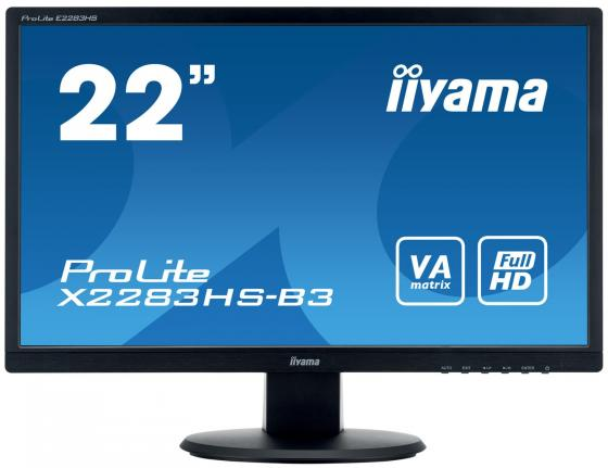 Монитор 22 iiYama X2283HS-B3 черный VA 1920x1080 250 cd/m^2 4 ms VGA HDMI DisplayPort монитор 27 samsung c27f591fdi серебристый va 1920x1080 250 cd m^2 4 ms hdmi displayport vga аудио