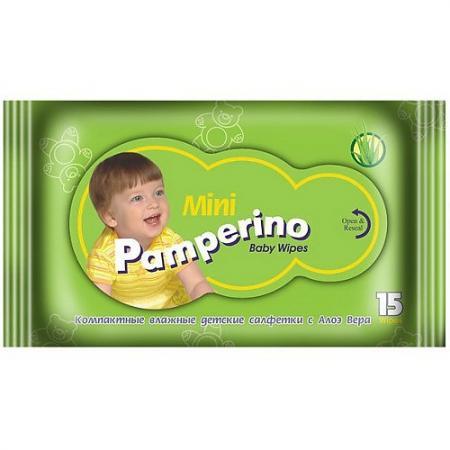 Салфетки влажные PAMPERINO 48204 15 шт не содержит спирта салфетки влажные авангард 48107 15 шт влажная
