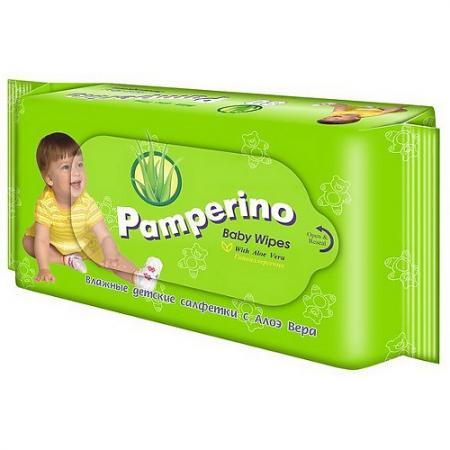 PAMPERINO Салфетки влажные детские с Алоэ вера 80шт влажные салфетки vestar алоэ вера освежающие 15 шт