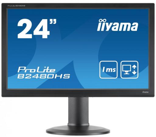 Монитор 24 iiYama B2480HS-B2 черный TN 1920x1080 250 cd/m^2 1 ms DVI VGA HDMI Аудио